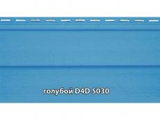 """фото Сайдинг облицовочный, панель D4D """"Slovinyl Siding"""", цвет голубой RAL5030"""