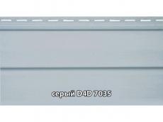 """фото Сайдинг облицовочный, панель D4D """"Slovinyl Siding"""", цвет серый RAL7035"""