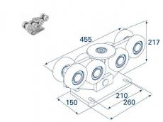 фото Doorhan DHS20220 Опора роликовая для откатных ворот, 1200кг
