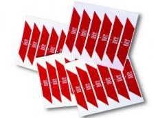 фото Nice NS1N Светоотражающие наклейки для стрелы шлагбаума